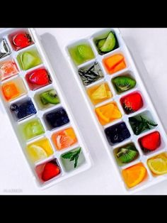Ice cube your fruit and put it in your glass of water for a healthy flavour