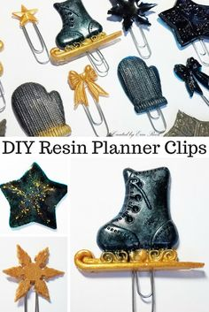 scraps of reflection: How to make Christmas Themed Resin Planner Clips Christmas Themes, Christmas Crafts, Xmas, Best Planners, Paper Crafts, Diy Crafts, Diy Pins, Diy Home Decor Projects, Planner Ideas