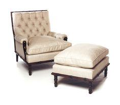 Stuyvesant Large Lounge Chair and Ottoman John Boone, Inc.