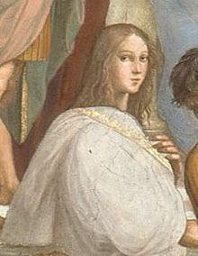 Hypatia; daughter of the mathematician Theon (c. 335-405) last librarian of Alexandria (in Roman controlled Egypt), who raised her like a boy. Her scientific teaching was perceived as pagan. Hypatia was ambushed and skinned alive by a mob of Christian fanatics. Arguably, her murder marks the beginning of the Dark Ages.