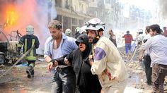 Halep yanıyor, 15 ölü  20 yaralı,hastane ve pazar yerini vurdular
