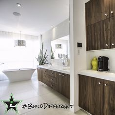 #BuildDifferent means you won't have to travel far for your morning coffee.  #YQR #ModernHome #CustomBuild #CustomHomes #quality #modern #original #home #design #imagine #creative #style #realestate #trueoriginal #dreamhome #architecture #dreamhomes #interior #YQRbuilds #construction #house #builder #homebuilder #showhome #beautiful #preparation #dream #DamnGoodHouses