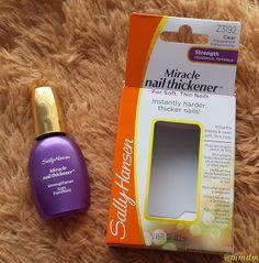 Miracle Nail Thickener, Sally Hansen, nail care, nails, sh, mmdm, beauty, beauty blogger