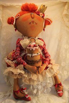 Купить Тортик от дИпрессии... - разноцветный, текстильная кукла, ароматизированная кукла, интерьерная кукла, принцесса, ткань