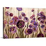 Amazon.com: 4pcs/set 100% Hand-painted Wood Framed Beautiful Purple Flower Home Decoration Modern Landscape Oil Painting on Canvas: Paintings