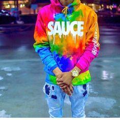 Jacket: hoodie rainbow colorful tie dye tie dye sweater graphic tee... ❤ liked on Polyvore featuring tops, hoodies and sweatshirts