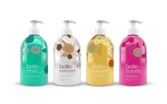 Belle's Liquid Hand Soaps on Packaging of the World - Creative Package Design Gallery