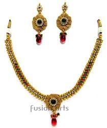 Antique Gold Toned Necklace Sets