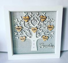 Personalized Tree-Family Tree-Tree Of Life-Family Tree Frame-Personalised Gift-Family Gift-Family Tree Gift-Gift For Mom-Mothers Day Gift - Frida Puzzle Picture Frame, Family Tree Picture Frames, Family Tree With Pictures, Christmas Gifts For Mom, Gifts For Mum, Gifts For Family, Mother Day Gifts, Christmas Shopping, Holiday Gifts