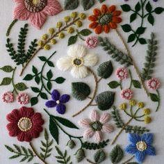 Wool stitch flowers by yumiko higuchi