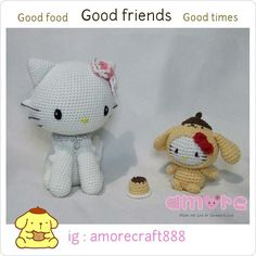 Charmmy kitty and hello kitty in purin suit
