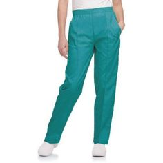 Landau Women's Classic Tapered Leg Scrub Pant, Blue
