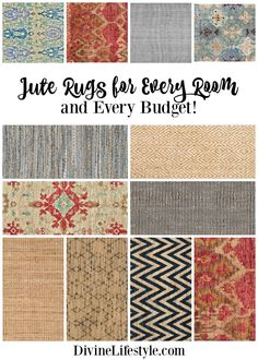 Jute Rugs for Every Room and Every Budget ~ DivineLifestyle.com ~ #affiliate