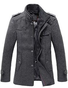 Match Mens Wool Classic Pea Coat Winter Coat More