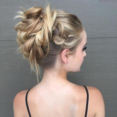Braided Blonde Updo