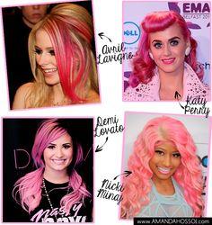 Amanda Hossoi: Inspiração Pink Hair #pinkhair #pink