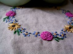 Super adorable! :D It would be super cute on the edging of the cover I'm planning for a daily planner.   embroidered roses