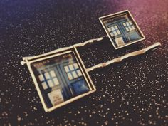 """$10.00 - TARDIS Bobby Pins Hair Clips - Doctor Dr Who and His Police Box - Jewelry for the Doctor's Companion  9th doctor artisan crafts bad wolf bobby pins companion crafts cute cybermen dalek david tennant doctor who dr who funny gift hair hair clip handmade jewelry kawaii outer space tardis whovian 10th doctor hair cute jack harkness rose tyler """"time and relative dimensions in space"""" time and space donna noble martha jones buy shop handmade whovian 9th 10th 11th 12th whooves"""