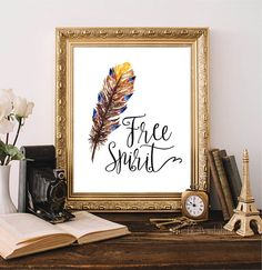 ❣ Please check our announcements tab for coupon codes! ❣  Free Spirit Feather Printable  ❥ No physical item will be shipped to you. You are Watercolor Feather, Watercolor Print, Printable Quotes, Printable Wall Art, Feather Wall Art, Free Prints, Nursery Prints, Free Spirit, Coupon Codes