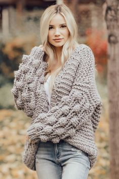 The Stevie Chunky Knit Cardigan – McKie Rae Chunky Sweater Outfit, Chunky Knit Cardigan, Cardigan Sweaters For Women, Cute Sweaters, Cable Knit Sweaters, Sweater Outfits, Cardigans For Women, Sweater Cardigan, Fall Outfits