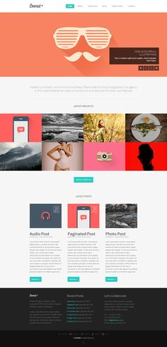 Everest | Responsive Portfolio WordPress Theme http://themeforest.net/item/everest-responsive-portfolio-wordpress-theme/5733716?ref=wpaw #web #design #wordpress