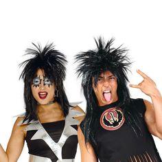 Perruque Punk Noire #perruquesdéguisements #accessoiresdéguisements #accessoiresphotocall