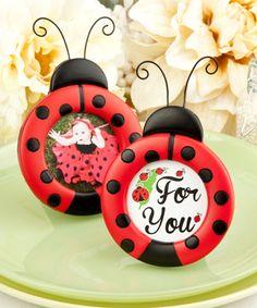 Adorable ladybug photo/place card frames
