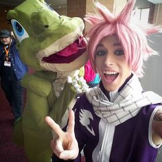 I met one of Igneel's distant relatives! Yup Yup Yup! #amke #amke2016 #animemilwaukee #ducky #landbeforetime #fairytailcosplay #fairytail #fairytailnatsu #natsu #natsucosplay #natsudragneel #natsudragneelcosplay #cosplay #cosplayselfie #conlife #nostalgia #childhood #animecosplay