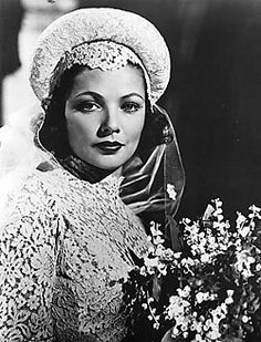 """Gene Tierney as a bride in """"The Razor's Edge"""" - 1946 Gene Tierney, Divas, The Razors Edge, Wedding Movies, Wedding Pics, Star Wedding, Wedding Bride, Wedding Gowns, Old Hollywood Movies"""