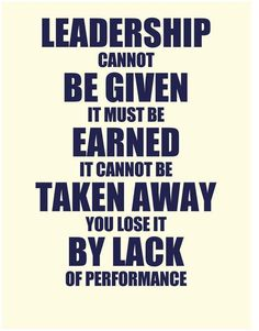 Takes more than a rank & title to make a leader...