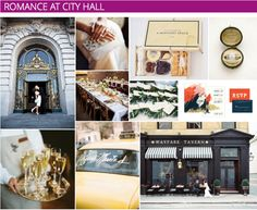 Chic City Hall Wedding Inspiration | Moodboard - See what styles are a perfect fit for this romantic city setting