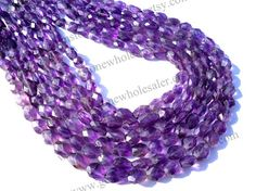 Amethyst African Faceted Oval Quality B / A by GemstoneWholesaler