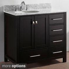 Photo Gallery For Website Virtu USA Caroline Parkway inch Single Bathroom Vanity Cabinet Set Overstock