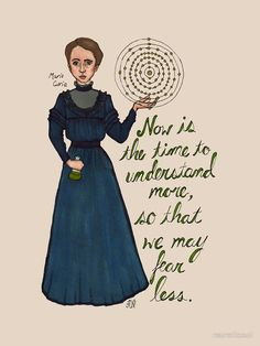 Marie Curie, Woman of Science T-Shirt. Marie Curie, Science Quotes, Science Art, Science Geek, Science Classroom, Teaching Science, Thinking Day, Magical Thinking, Emily Dickinson