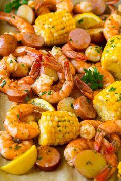 Get Shrimp Boil Recipe from Food Network Seafood Boil Recipes, Shrimp Recipes, Shrimp Boil Recipe With Beer, Boiled Food, Boiled Shrimp, Spicy Shrimp, Shrimp Pasta, Food Network Recipes, Cooking Recipes