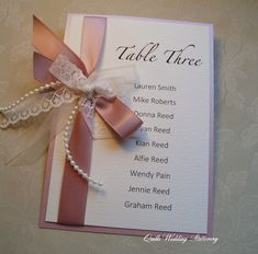 Wedding Table Plan Card. Seating Plan Tag. Luxury Table Plan Card. Vintage…by QuillsWeddingFavours on Etsy www.quillsweddingstationery.co.uk https://www.facebook.com/pages/Quills-Wedding-