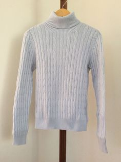 IZOD Sweater Womens Size Medium Cable Knit Golf White Pink Blue ...