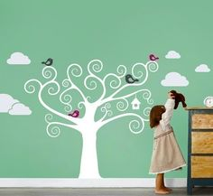 wall painting for my family photo tree!!!