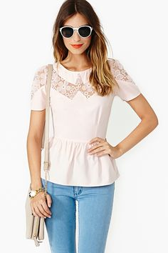 Daisy Love Peplum Top
