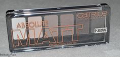 Catrice absolute matt eyeshadow palette 010 eyes wide matt |