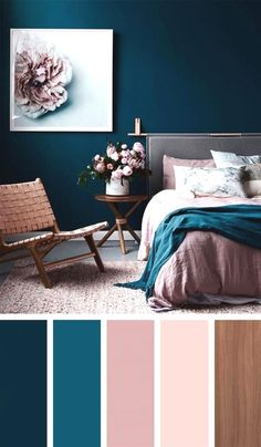 Modern Romance, Navy Bedroom Walls, Beige Bedrooms, Blush Bedroom,  Luxurious Bedrooms,