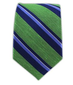 Social Stripe - Kelly Green (Linen Skinny) | Ties, Bow Ties, and Pocket Squares | The Tie Bar