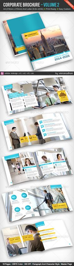 Corporate Brochure | Volume 2 - Corporate Brochures Print Layout, Layout Design, Print Design, Brochure Cover, Brochure Layout, Brochure Template, Editorial Layout, Editorial Design, Company Profile Design