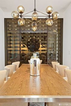 The perfect chandelier for a Wine Cellar/wine tasting room decor idea - 12 home accents On A Budget chandeliers ideas Glass Wine Cellar, Home Wine Cellars, Wine Cellar Design, Wine Glass, Wine Tasting Room, Tasting Table, Wine House, Wine Display, Wine Wall