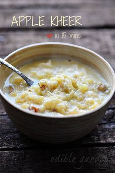 Apple Kheer - Easy 15-Min Apple Kheer (Indian Apple Pudding) Recipe