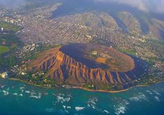 Diamond Head Volcanic Crater, Hawaii...hiked to the top...thought I was gonna die (BT,DT AND bought the t-shirt)!