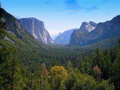 Yosemite. El Capitan, Bridal Veil Falls & Half Dome.