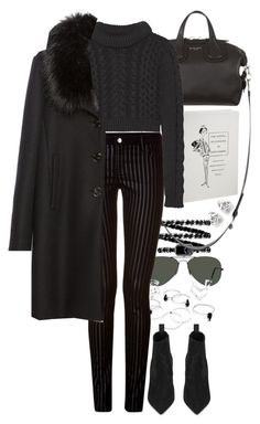 """""""Untitled #8446"""" by nikka-phillips ❤ liked on Polyvore featuring Chanel, Ray-Ban, Givenchy, Faith Connexion, TIBI, Zara, Yves Saint Laurent, Georgini, women's clothing and women's fashion"""
