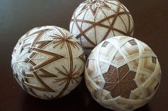 Brown and white Temari