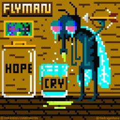 """Flyman's own sad, sad NES game by Nes Games, Fantasy Fiction, Desktop Screenshot, Sad, Twitter"